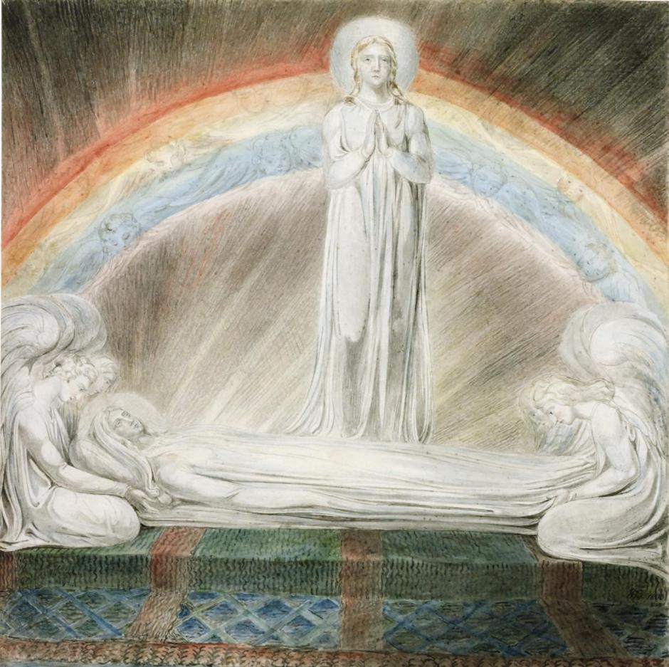 The Death of the Virgin 1803 by William Blake 1757-1827