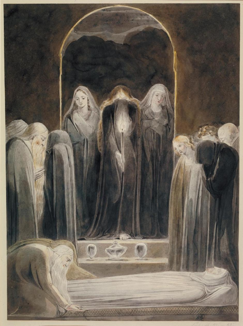 The Entombment c.1805 by William Blake 1757-1827