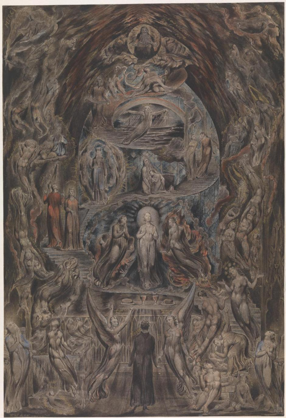 Epitome of James Hervey's 'Meditations among the Tombs' c.1820-5 by William Blake 1757-1827