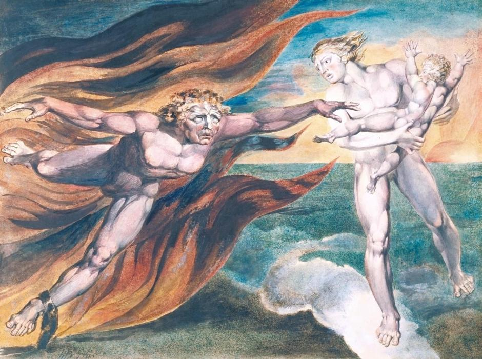 The Good and Evil Angels 1795-?c. 1805 by William Blake 1757-1827