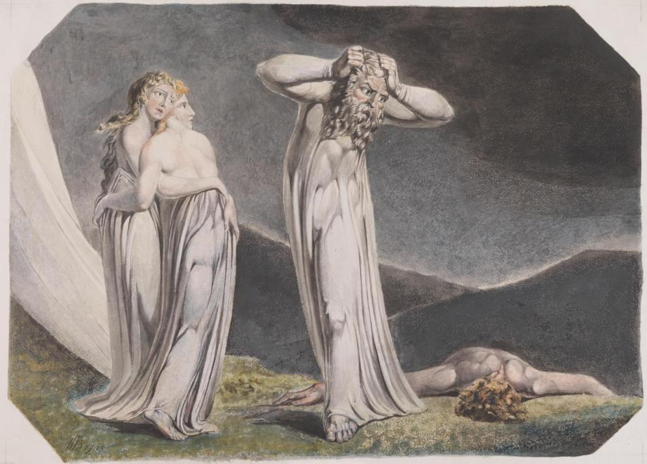 Lamech and his Two Wives 1795 by William Blake 1757-1827