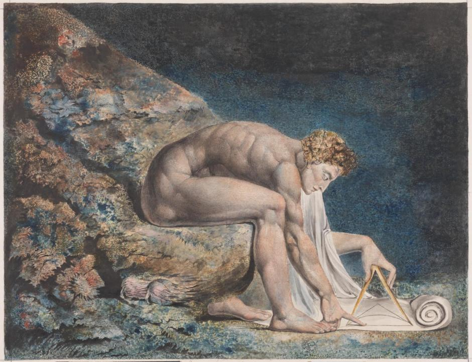 Newton 1795-c. 1805 by William Blake 1757-1827