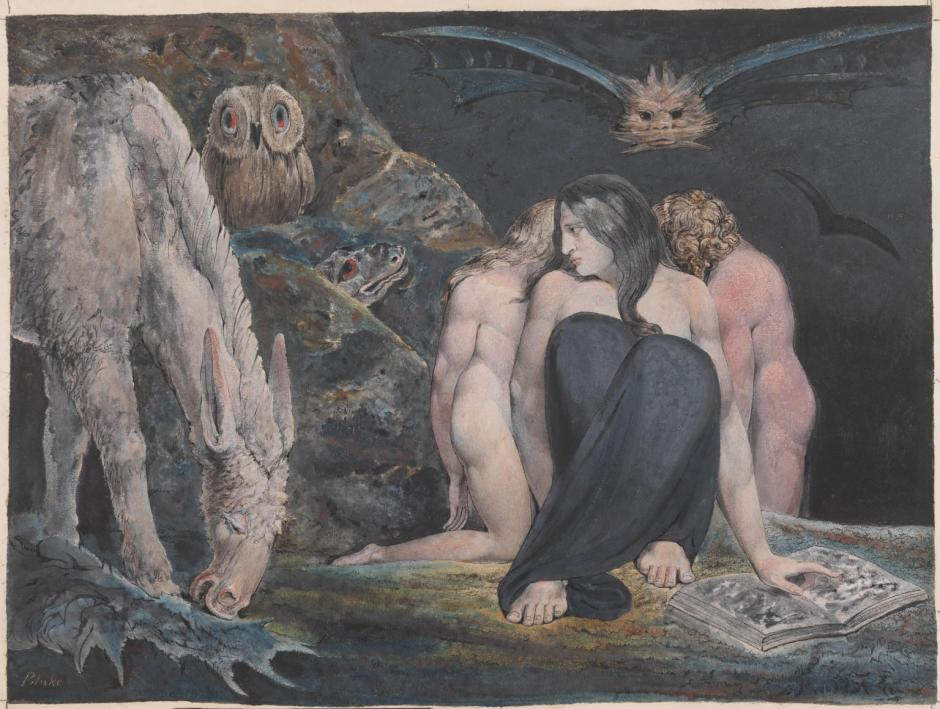 The Night of Enitharmon's Joy (formerly called 'Hecate') c.1795 by William Blake 1757-1827