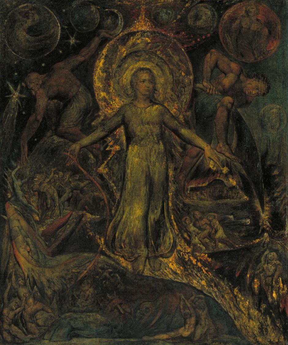 The Spiritual Form of Pitt Guiding Behemoth ?1805 by William Blake 1757-1827