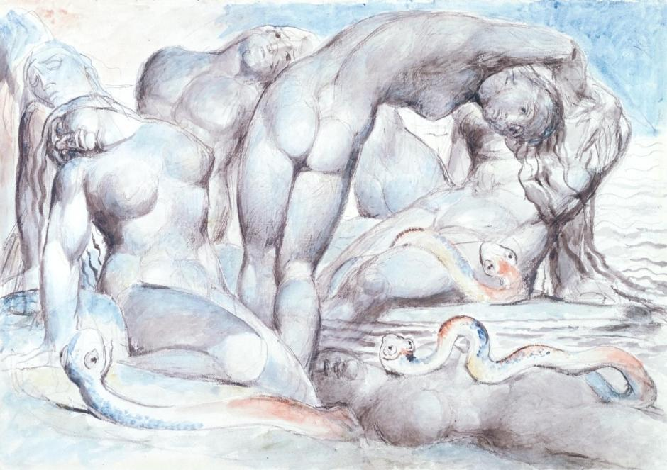 The Punishment of the Thieves 1824-7 by William Blake 1757-1827