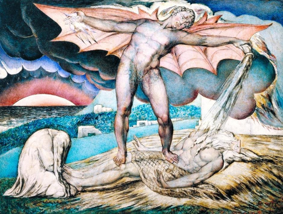 Satan Smiting Job with Sore Boils c.1826 by William Blake 1757-1827