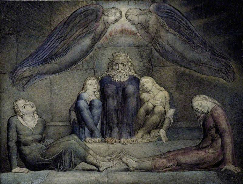 Blake, William, 1757-1827; Ugolino and His Sons in Prison