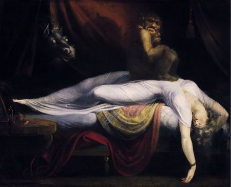 Henry Fuseli (1741–1825), The Nightmare (1781), oil on canvas, 101.6 × 127 cm, Detroit Institute of Arts, Detroit, MI. Wikimedia Commons.