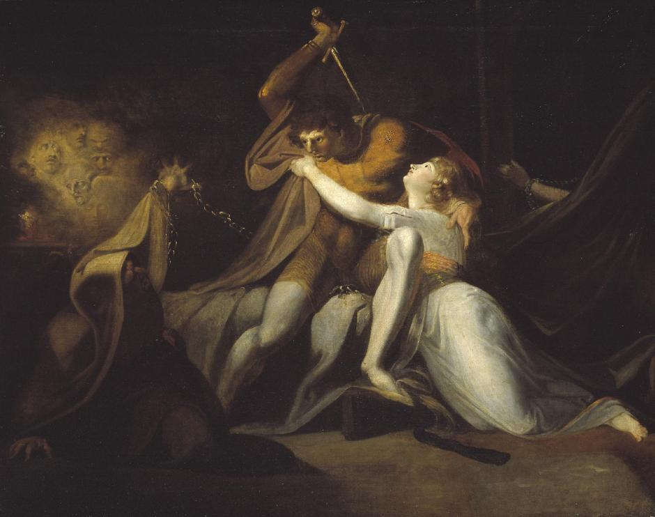 Percival Delivering Belisane from the Enchantment of Urma exhibited 1783 by Henry Fuseli 1741-1825