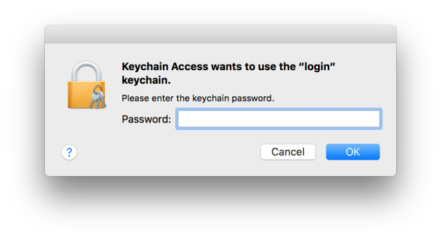 Why do I have to keep entering my keychain password in