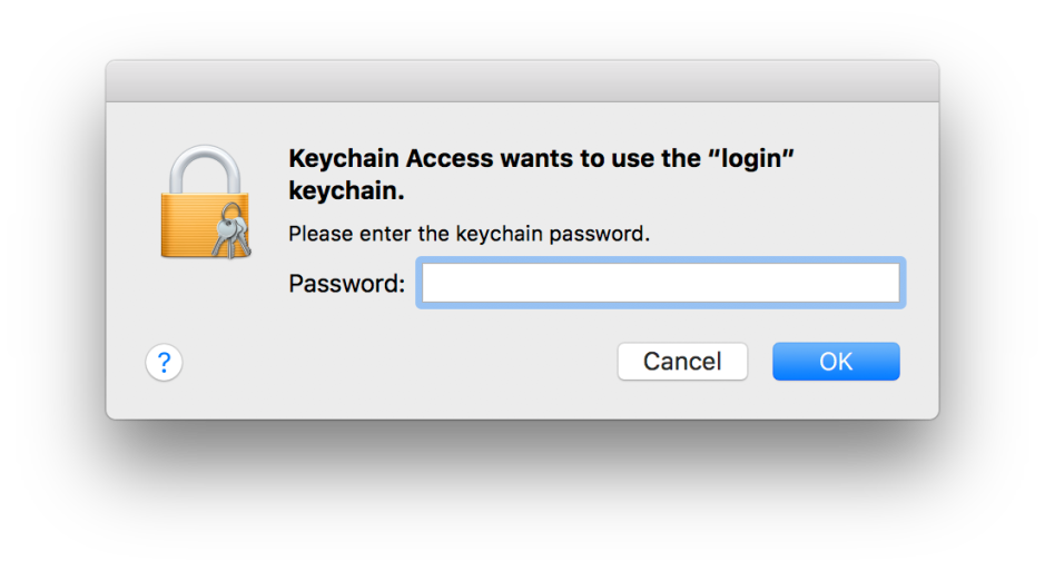 mac os keychain access passwords