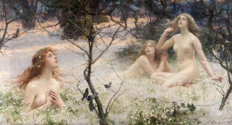 Rae, Henrietta, 1859-1928; Spring's Awakening (The Snow Maidens)