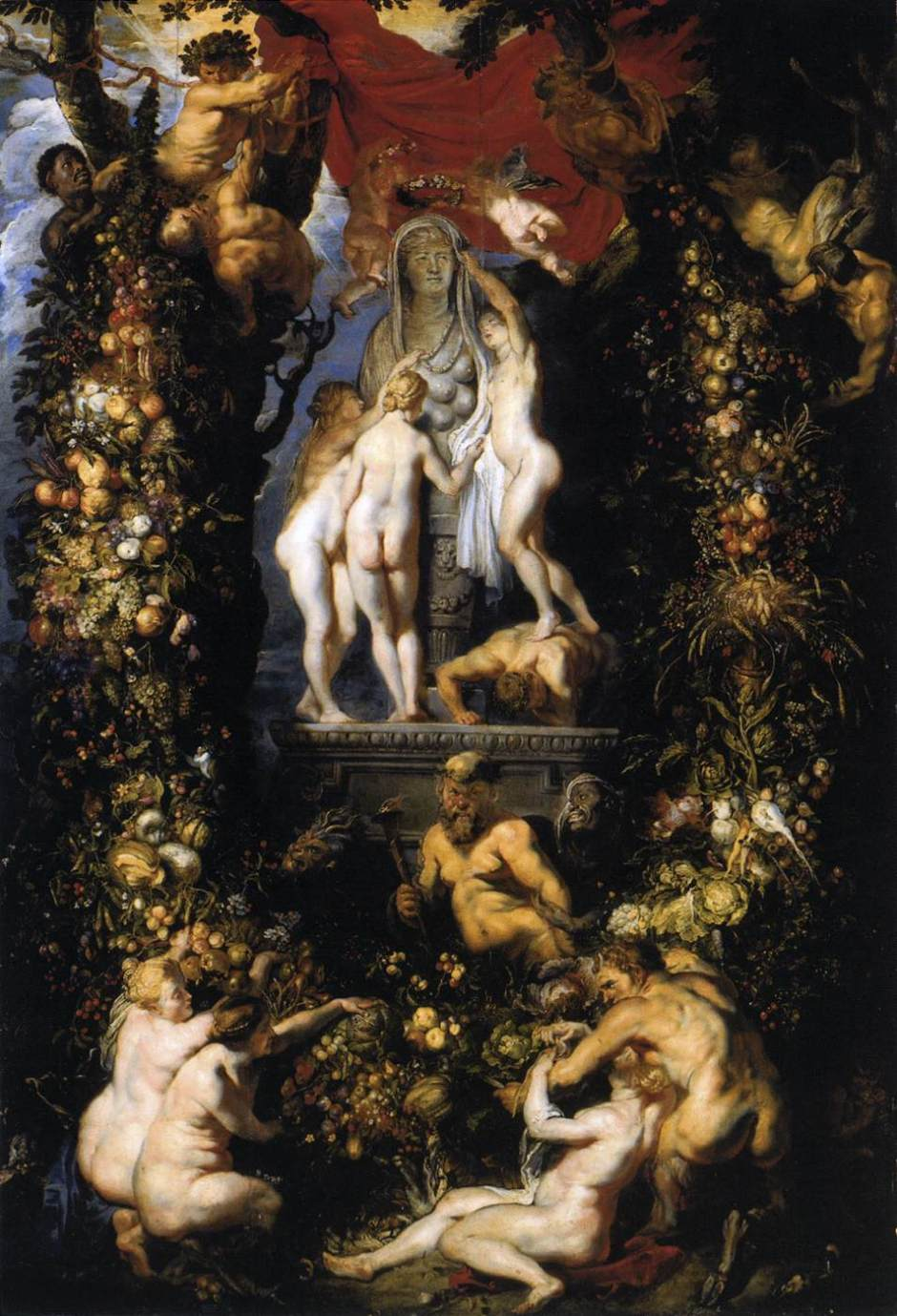 rubensbrueghelnatureadorningthreegraces