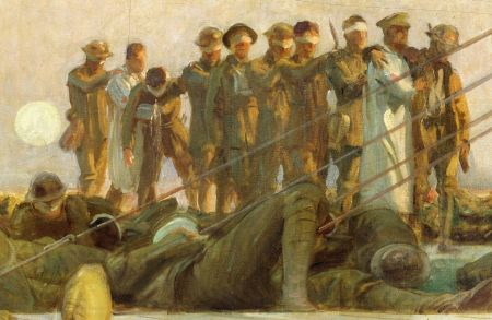 John Singer Sargent (1856–1925), Gassed (detail) (1919), oil on canvas, 231 x 611.1 cm, The Imperial War Museum, London. Wikimedia Commons.