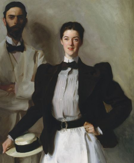 John Singer Sargent (1856–1925), Mr. and Mrs. I. N. Phelps Stokes (detail) (1897), oil on canvas, 214 x 101 cm, The Metropolitan Museum of Art (Bequest of Edith Minturn Phelps Stokes (Mrs. I. N.), 1938), New York, NY. Courtesy of The Metropolitan Museum of Art.