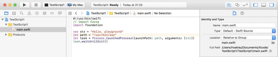 Xcode Swift playgrounds 4: running scripts without Xcode – The