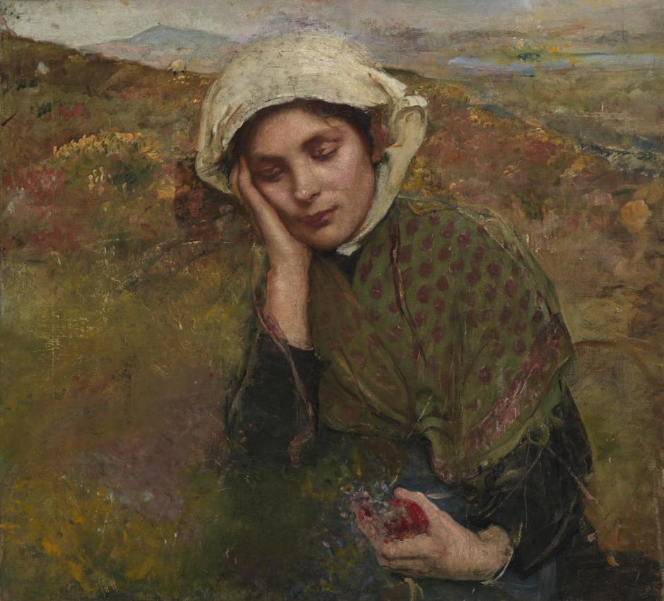 The Convalescent exhibited 1929 by Annie Louisa Swynnerton 1844-1933