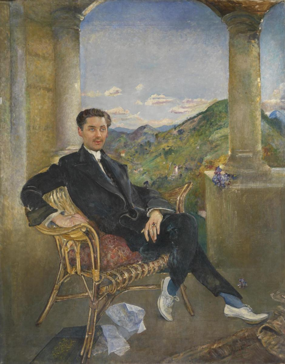 Count Zouboff exhibited 1931 by Annie Louisa Swynnerton 1844-1933