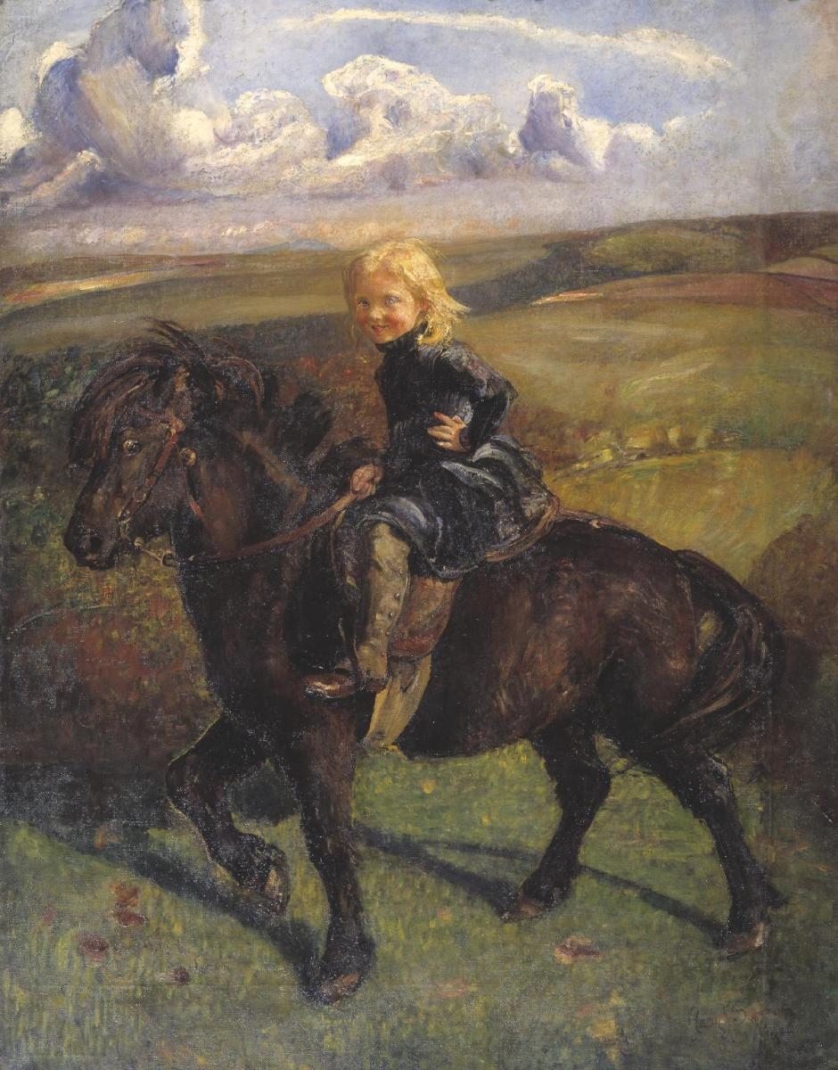 Miss Elizabeth Williamson on a Pony 1906 by Annie Louisa Swynnerton 1844-1933