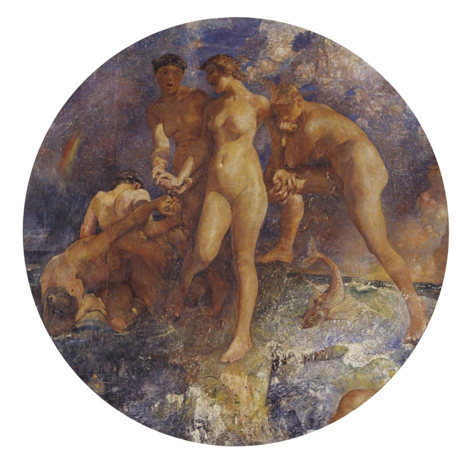 Oreads exhibited 1907 by Annie Louisa Swynnerton 1844-1933