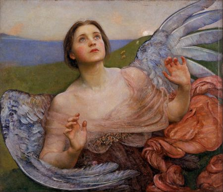 Annie Louisa Swynnerton (1844-1933), The Sense of Sight (1895), oil on canvas, 87.3 x 101 cm, Walker Art Gallery, Liverpool, England. Wikimedia Commons.