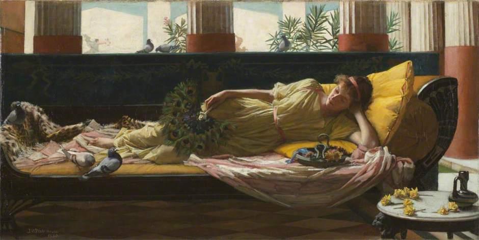 Waterhouse, John William, 1849-1917; Dolce far niente