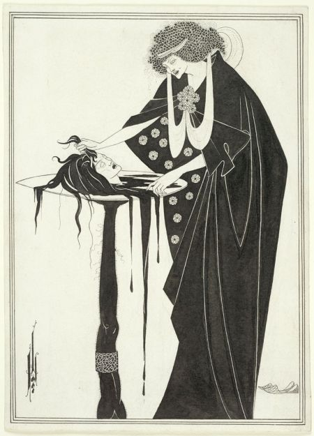 Aubrey Vincent Beardsley (1872-1898), The Dancer's Reward, for 'Salome' (1893), black ink and graphite on white wove paper, 23 x 16.5 cm, Harvard Art Museums/Fogg Museum (Bequest of Grenville L. Winthrop), Cambridge, MA. Courtesy of Harvard Art Museums.