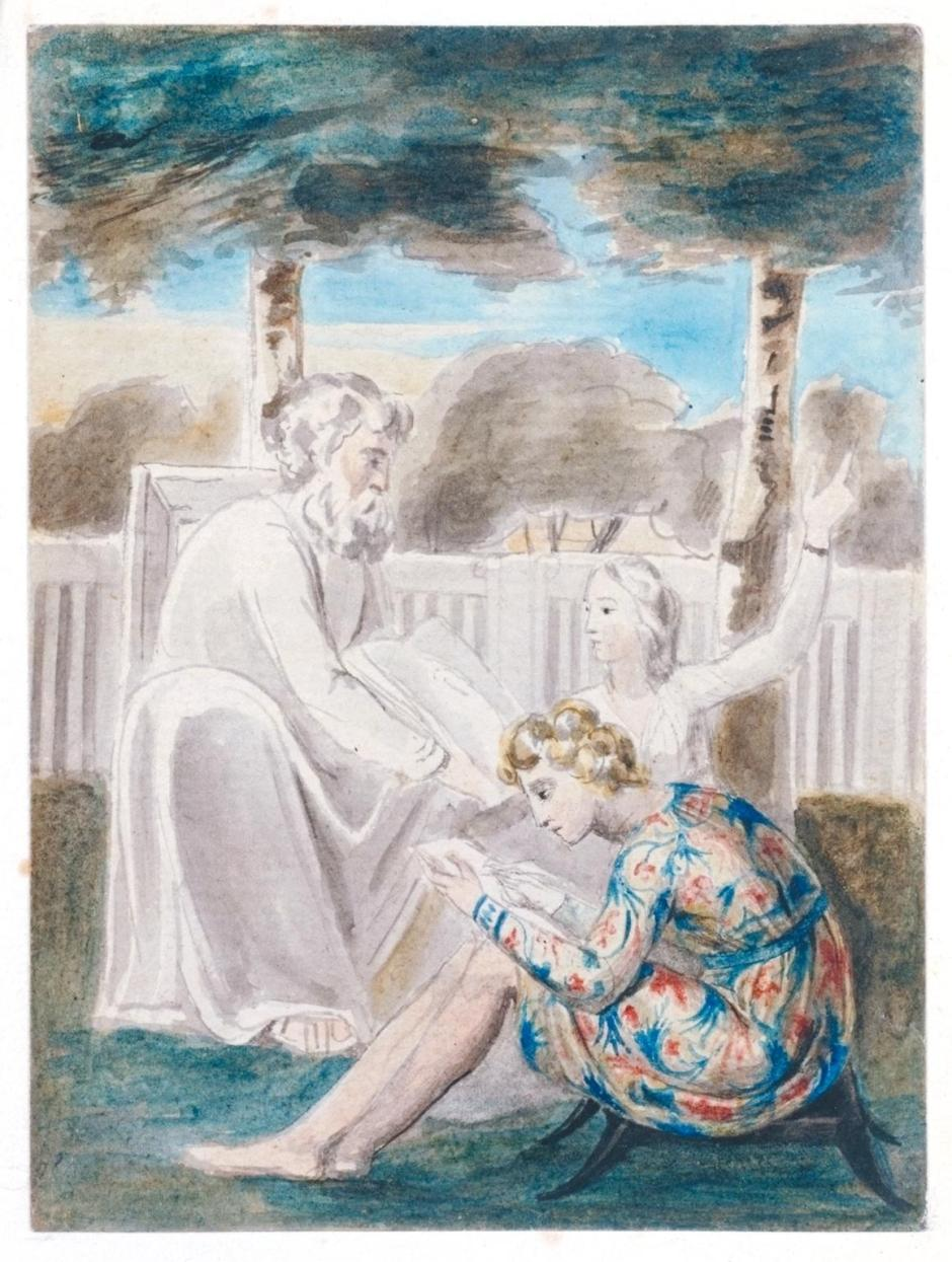 Age Teaching Youth c.1785-90 by William Blake 1757-1827