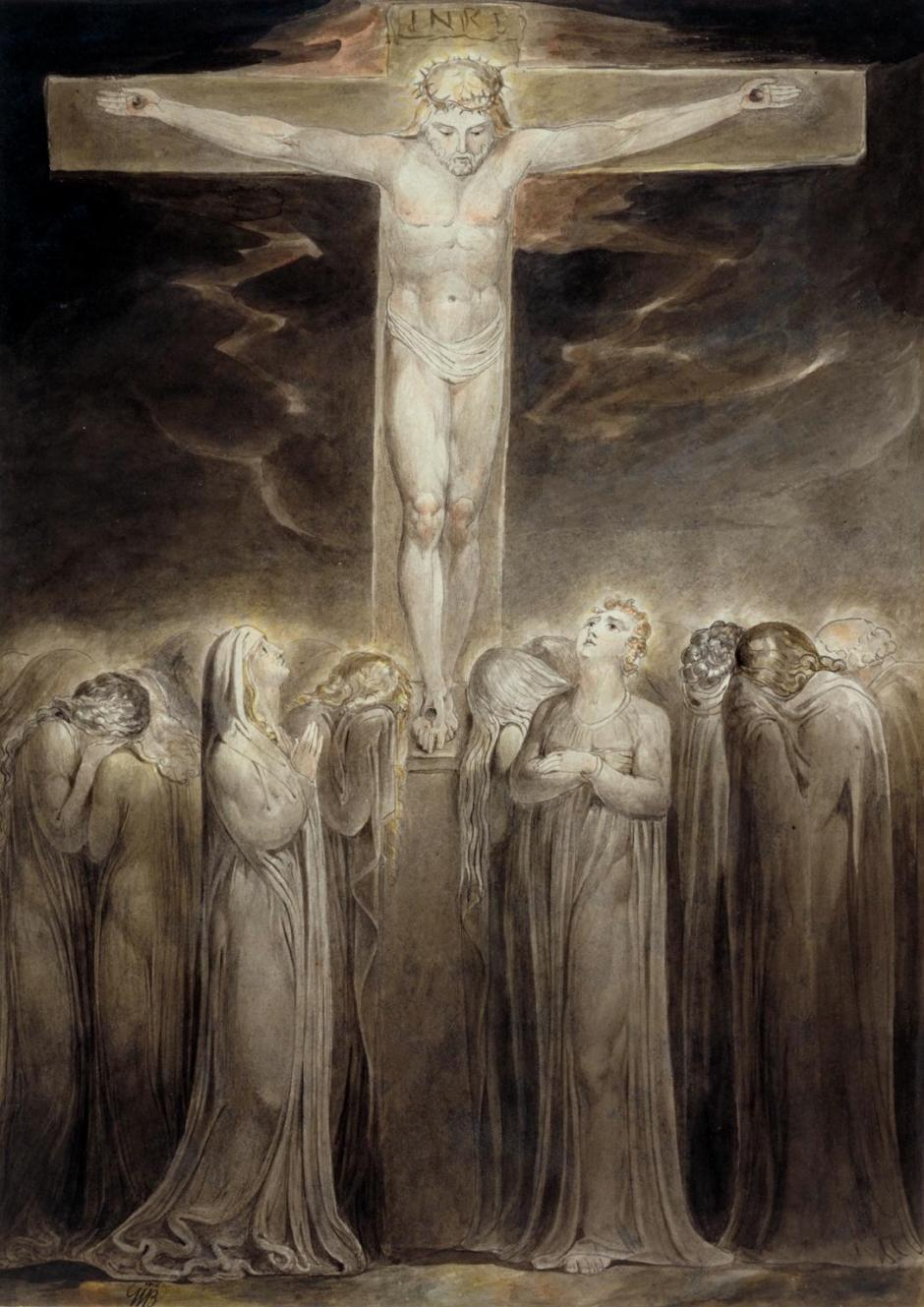 The Crucifixion: 'Behold Thy Mother' c.1805 by William Blake 1757-1827