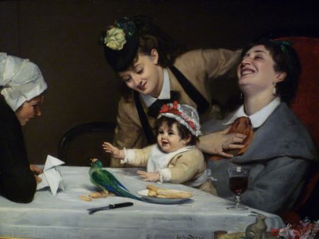 Carolus-Duran (1837–1917), Merrymakers (1870), oil, dimensions not known, Detroit Institute of Arts, Detroit, MI. Wikimedia Commons.