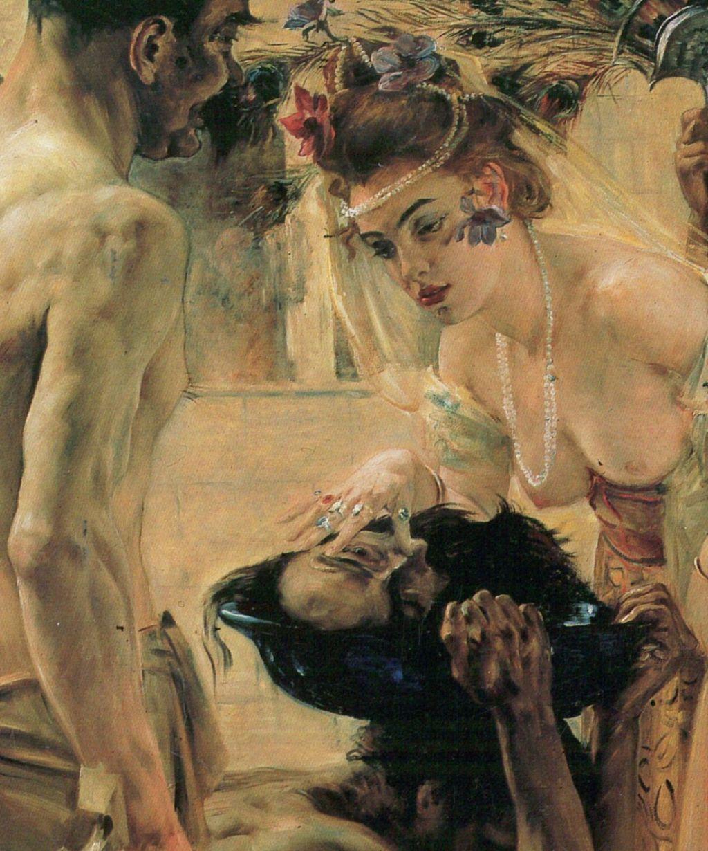 Lovis Corinth (1858–1925), Salome (II) (detail) (1900), oil on canvas, 127 × 147 cm, Museum der Bildenden Künste Leipzig, Leipzig. Wikimedia Commons.