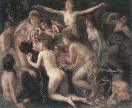 Lovis Corinth (1858–1925), The Temptation of Saint Anthony (1897), oil on canvas, 88 × 107 cm, Bayerische Staatsgemäldesammlungen, Munich. Wikipedia Commons.