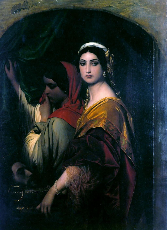 Paul Delaroche (1797–1856), Herodias (1843), oil on canvas, 129 x 98 cm, Wallraf-Richartz-Museum, Cologne, Germany. Wikimedia Commons.