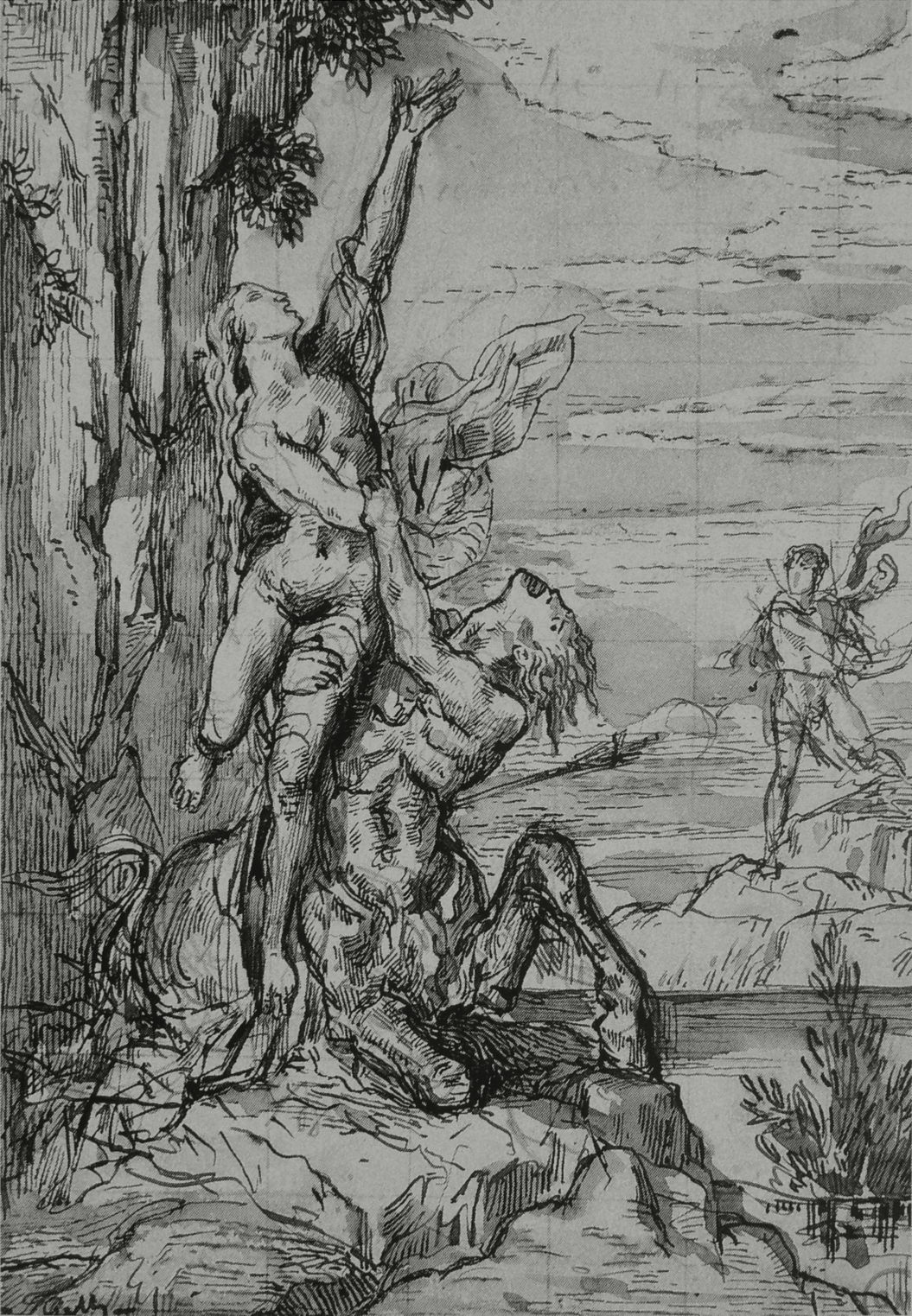 The Story in Paintings: Nessus and Deianeira, the point of