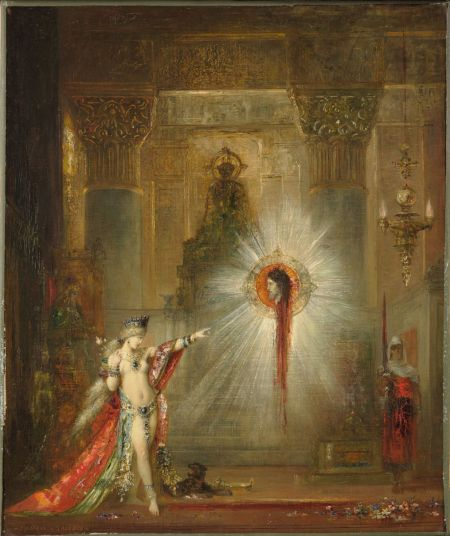 Gustave Moreau (1826–1898), The Apparition (1876-77), oil on canvas, 55.9 x 46.7 cm, Harvard Art Museums/Fogg Museum (Bequest of Grenville L. Winthrop), Cambridge, MA. Courtesy of Harvard Art Museums.