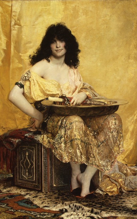 Henri Regnault (1843–1871), Salome (1870), oil on canvas, 160 × 101 cm, The Metropolitan Museum of Art (Gift of George F. Baker, 1916), New York, NY. Courtesy of The Metropolitan Museum of Art.