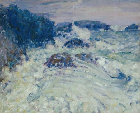 John Peter Russell (1858–1930), Rough Sea, Morestil (c 1900), oil on canvas on hardboard, 66 x 81.8 cm, The Art Gallery of New South Wales, Sydney, Australia. Wikimedia Commons.