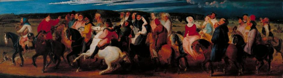The Pilgrimage to Canterbury 1806-7 by Thomas Stothard 1755-1834