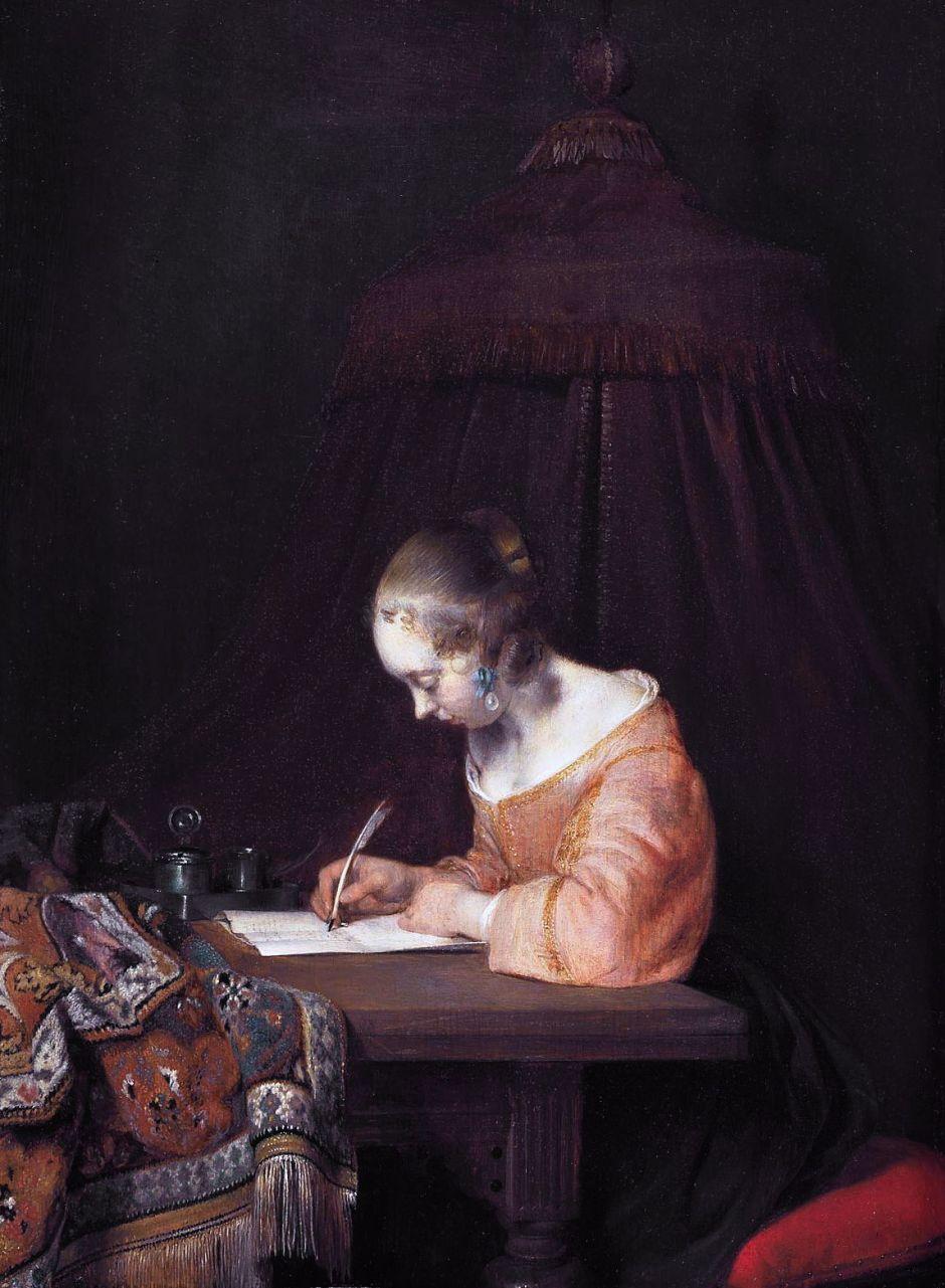 terborchwomanwritingletter