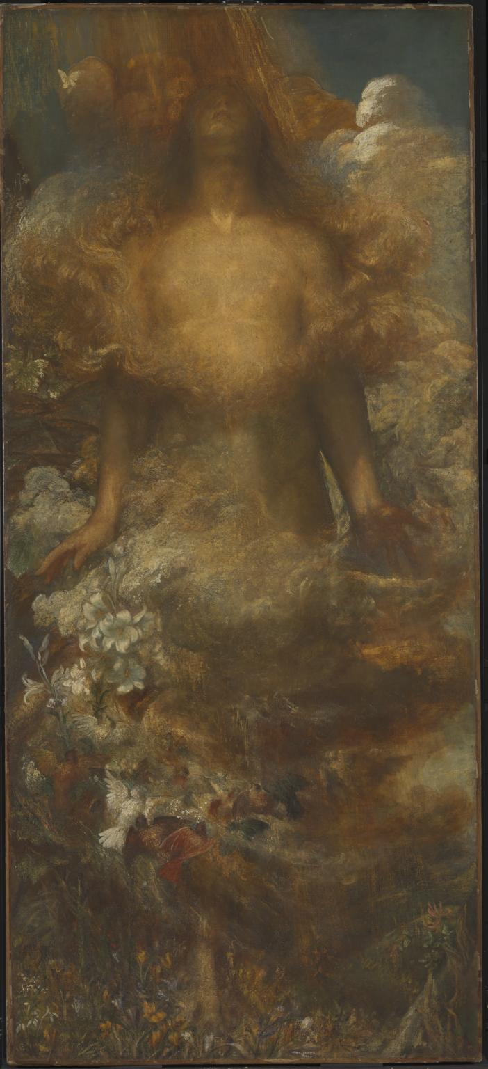 'She shall be called woman' c.1875-92 by George Frederic Watts 1817-1904
