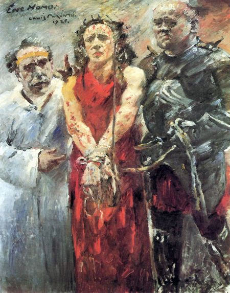 Lovis Corinth (1858–1925), Ecce Homo (1925), oil on canvas, 190 x 150 cm, Kunstmuseum Basel, Basel, Switzerland. Wikimedia Commons.
