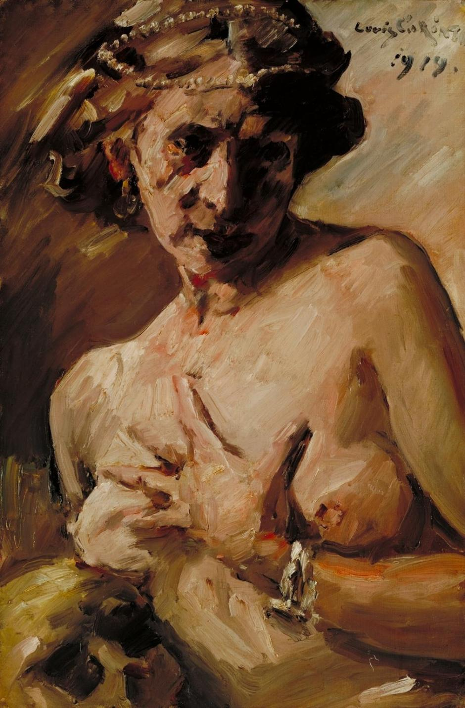 Magdalen with Pearls in her Hair 1919 by Lovis Corinth 1858-1925