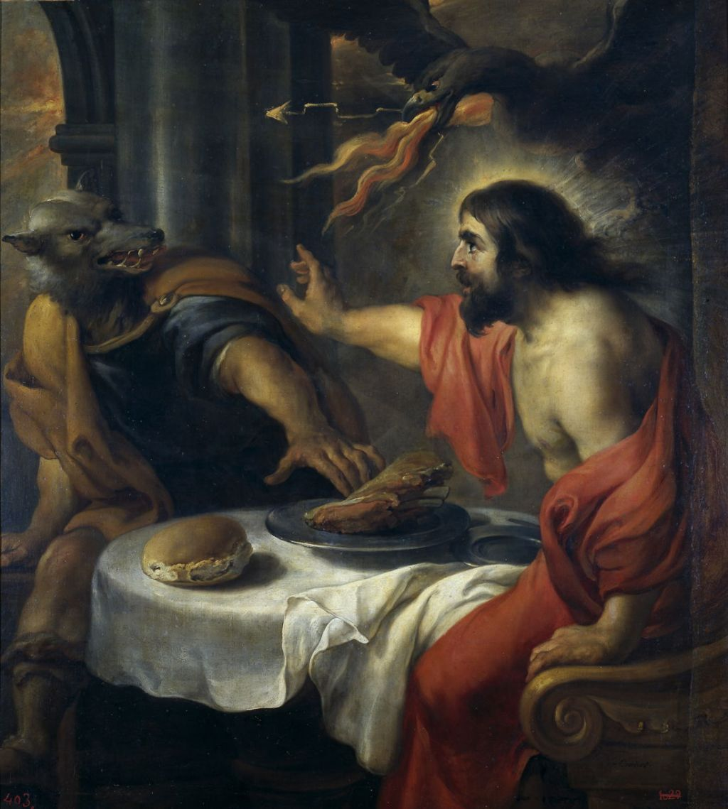 Jan Cossiers (1600–1671), Jupiter and Lycaon (c 1640), oil on canvas, 120 × 115 cm, Museo Nacional del Prado, Madrid. Wikimedia Commons.