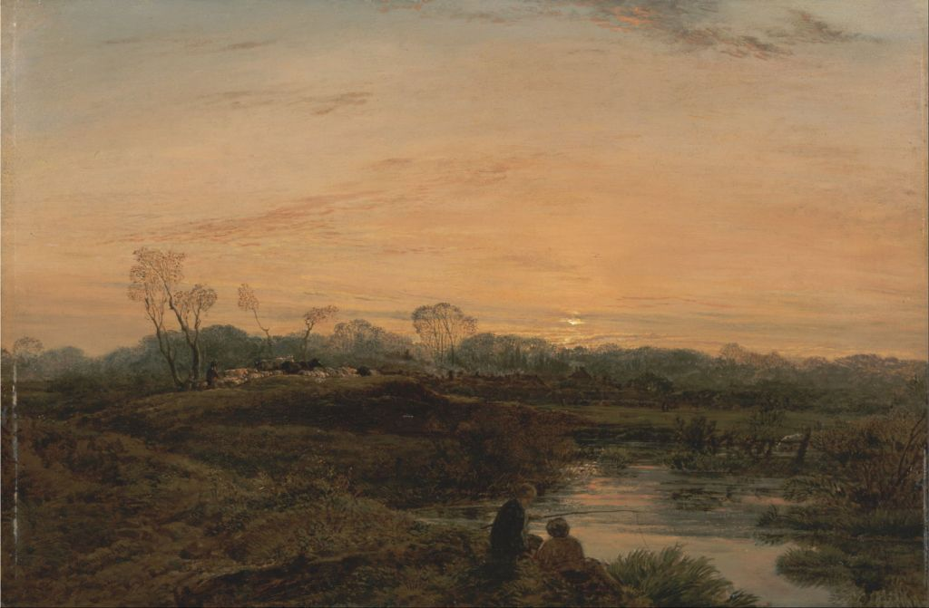 John Linnell (1792–1882), Evening, Bayswater (1818), oil on panel, 38.3 x 58.1 cm, Yale Center for British Art, New Haven, CT. Wikimedia Commons.