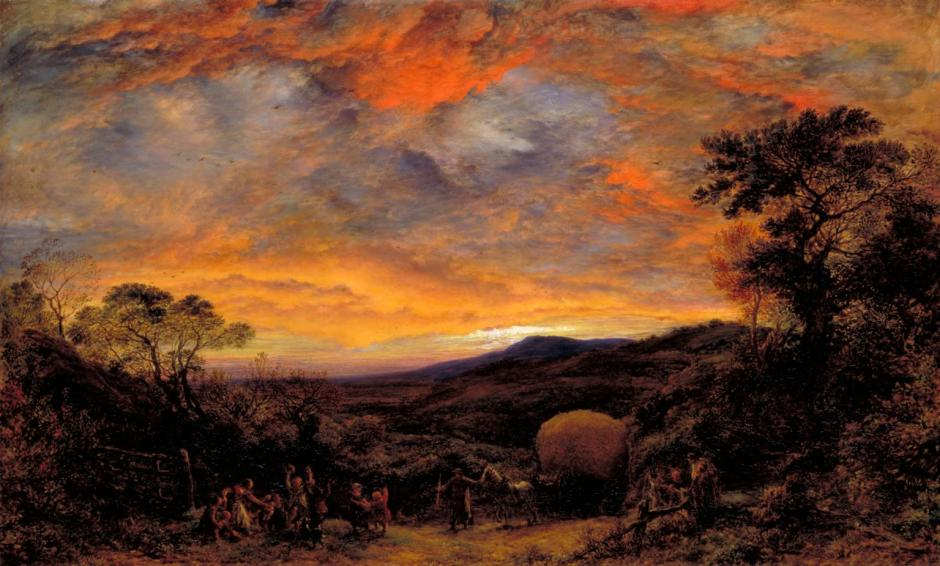 Harvest Home, Sunset: The Last Load 1853 by John Linnell 1792-1882