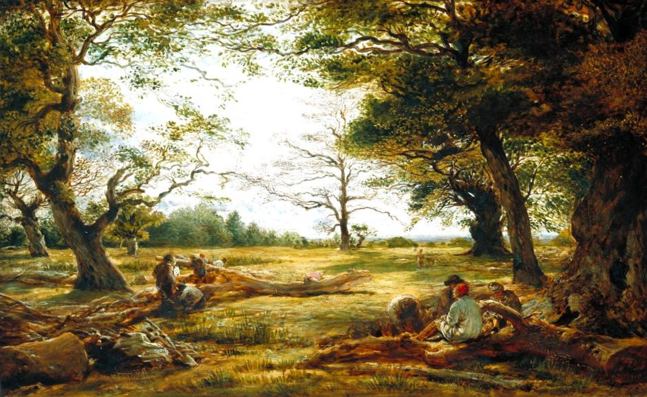 Windsor Forest ('Wood-Cutting in Windsor Forest') 1834-5, exhibited 1835 by John Linnell 1792-1882