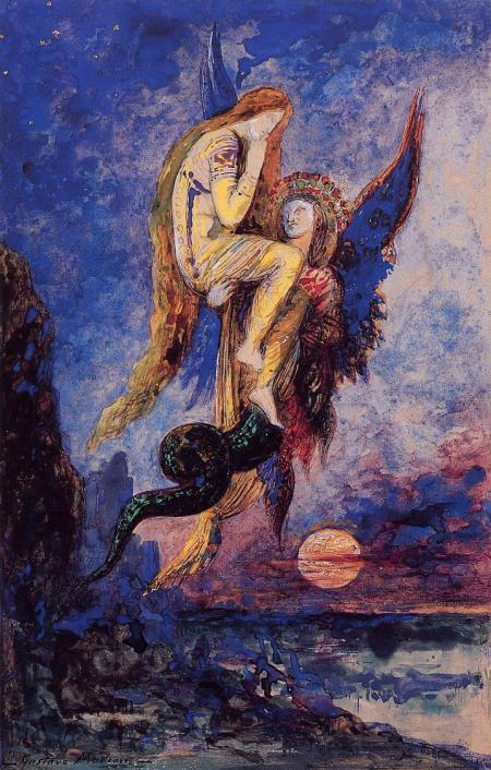 Gustave Moreau (1826–1898), Chimera (1884), watercolor with gouache on paper, dimensions not known, Musée National Gustave-Moreau, Paris. Wikimedia Commons.