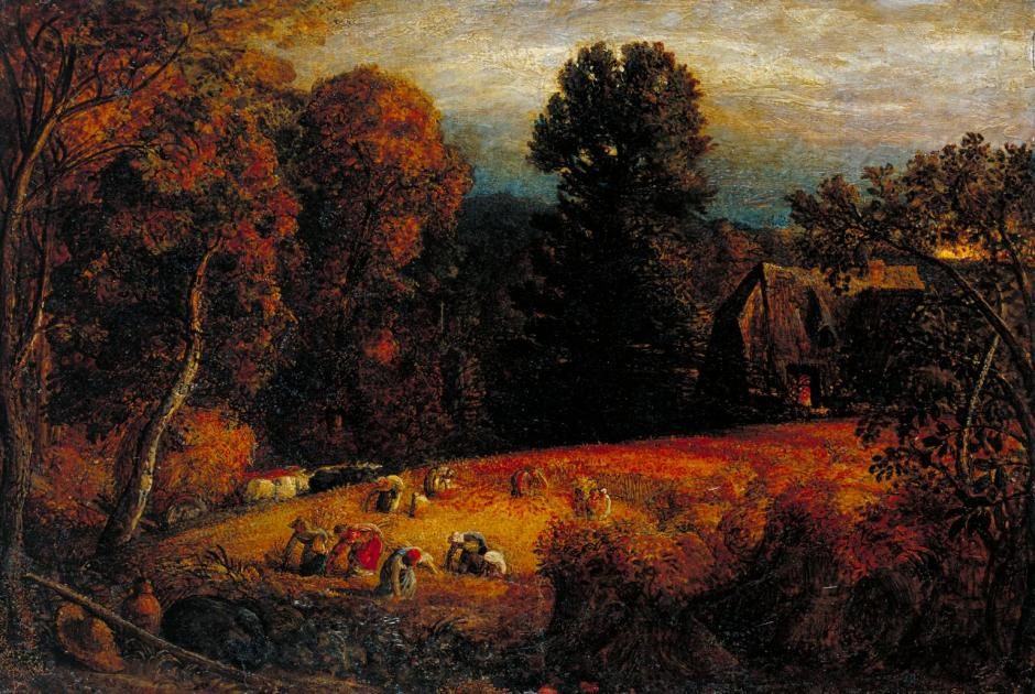 The Gleaning Field c.1833 by Samuel Palmer 1805-1881