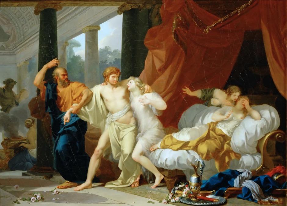 Regnault (1754–1829), Socrates Tears Alcibiades