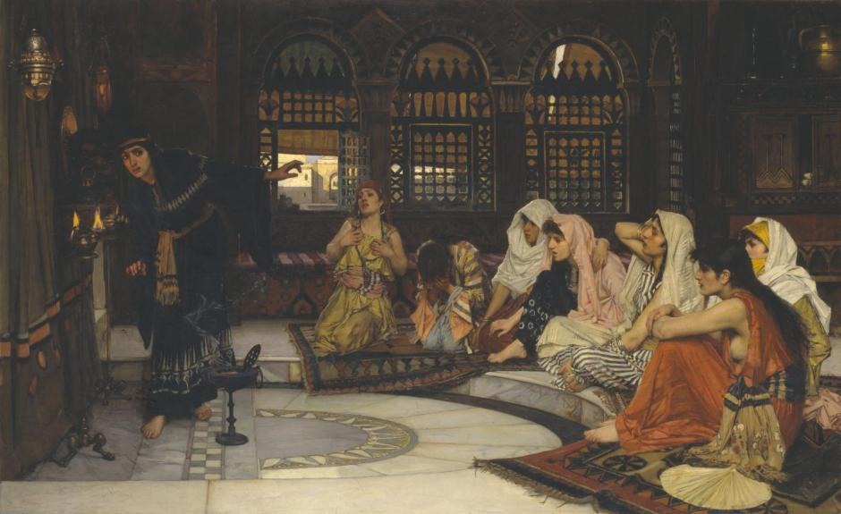 Consulting the Oracle 1884 by John William Waterhouse 1849-1917